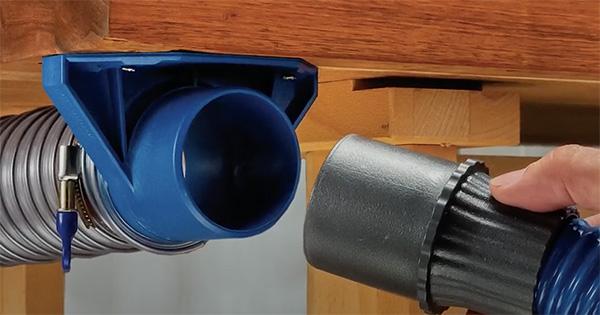 dust right mountable dust coupler