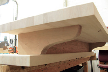outer supports for the counter top