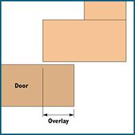 Overlay cabinet door diagram