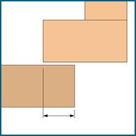 Diagram of an overlay-style cabinet door