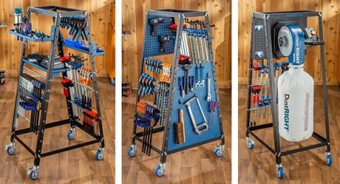 pack rack clamp storage cart