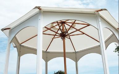 portable gazebo with patio umbrella