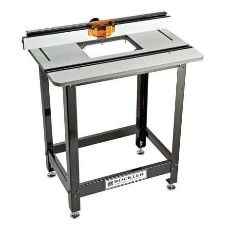 Rockler phenolic router table with pro fence and basic stand