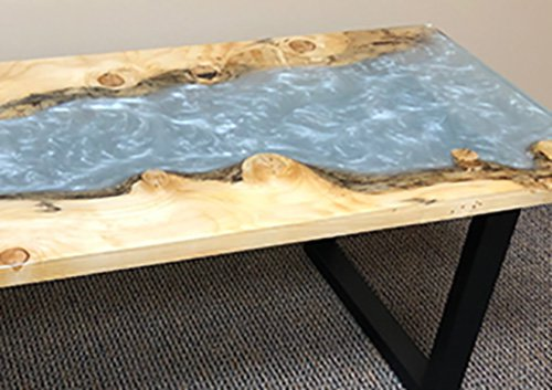 Live Edge river table made with MAS epoxy