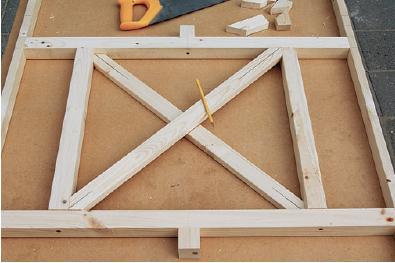 placing gazebo crosspieces