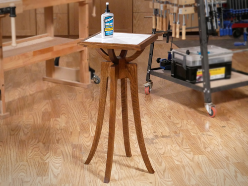 Making a white oak plant stand with a tile top