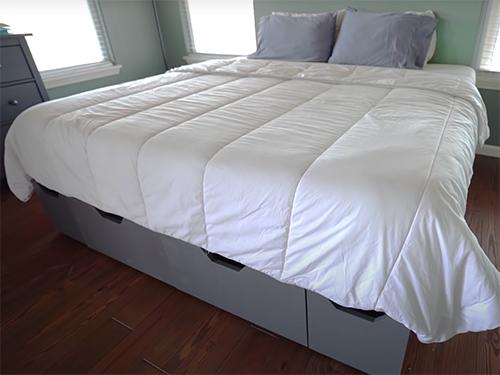 Modular diy platform bed with storage