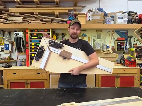 Precision picture frame cutting jig