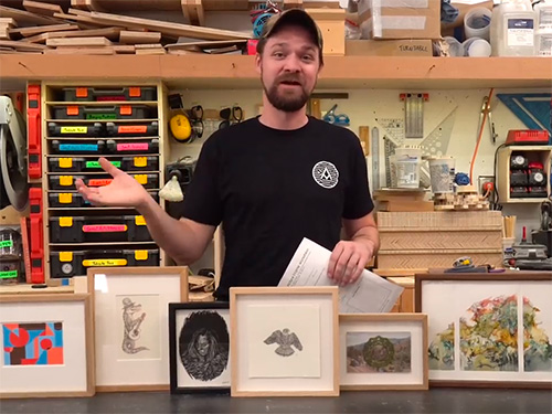 Michael Alm shows a variety of picture frames