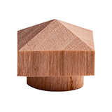 Wood screw plugs with a pyramid design