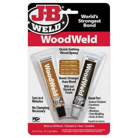 JB weld two part woodworking epoxy