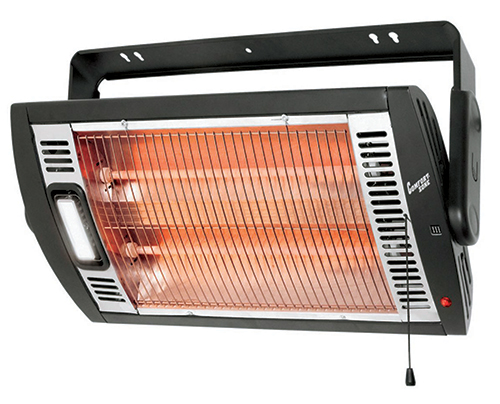 Radiant heater meant to be mounted on wall or ceiling