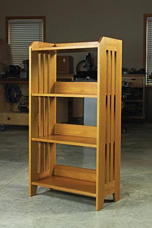 Classic red oak bookcase