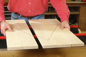 Matching up parts of a large panel for regluing
