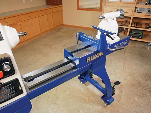 Rikon lathe bed fully extended