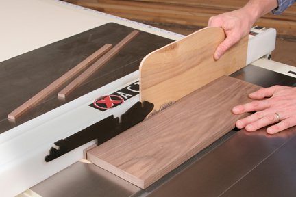 Ripping pieces of wood to be used as splines