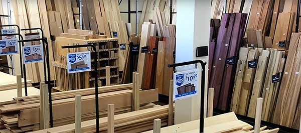 Rockler lumber selection