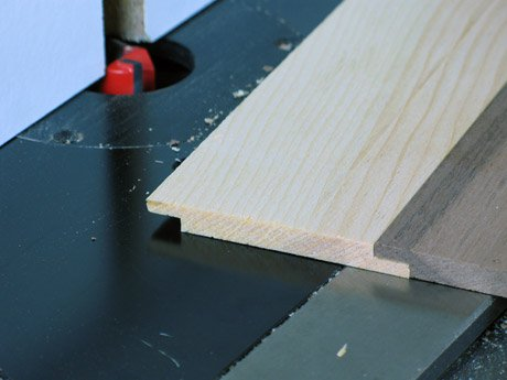 Rabbet routed in plywood for lap joint