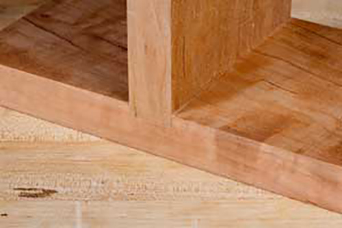 Cabinet dado joinery cut with a router
