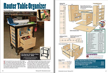 construction drawing of router table cabinet