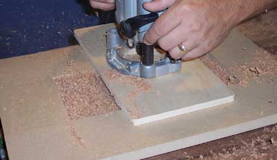 Using dish carving bit and a router template to cut water well