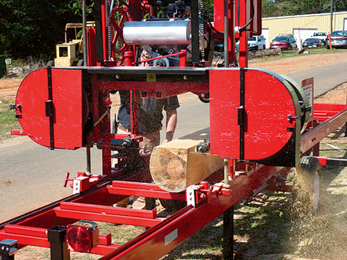 Portable Sawmills Lumber From Local Trees