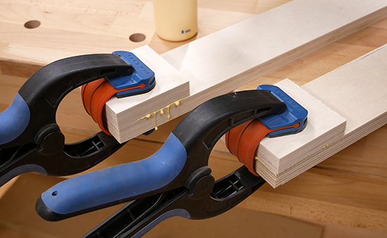 clamping plywood parts
