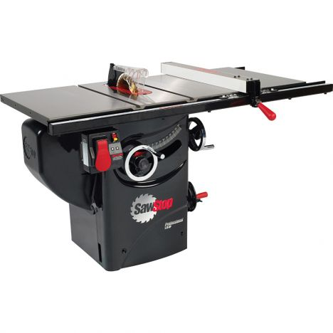 Sawstop professional table saw with extension rails