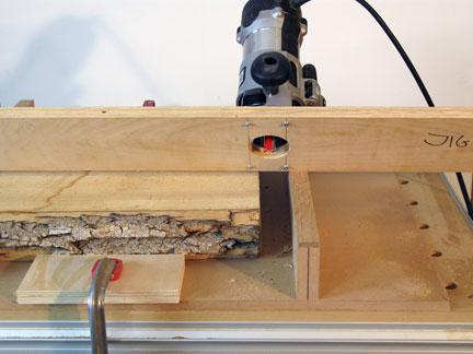 Raised surface on jig created with screws