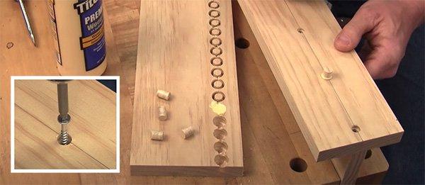 wood screws and wood plugs