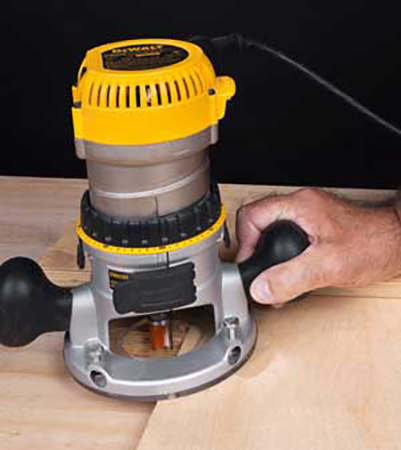 Setting up initial dado cut with a router