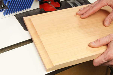 Preventing long grain cut tearout at router table
