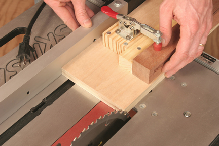 Setting up table saw tapering cut