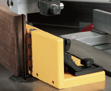 MagJig stand-alone resaw fence attached to a bandsaw