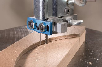 Rockler duplicating pin for template cutting on the bandsaw