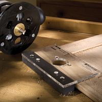 European hinge installation made with a router
