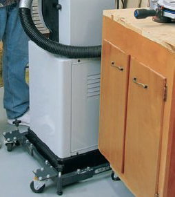 Increase bandsaw mobility with a visible-sx-inline base