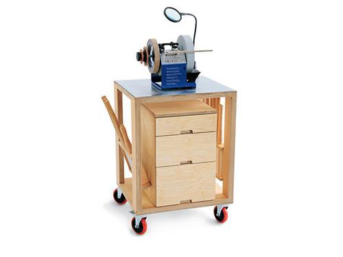 Mobile workshop sharpening cart