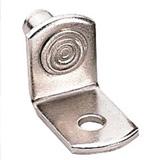 Metal pin for installing adjustable shelving