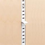 Example of a shelf standard strip for installing adjustable shelving