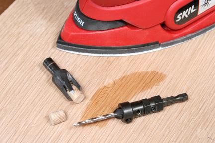 Custom cut wood plug and countesink bits