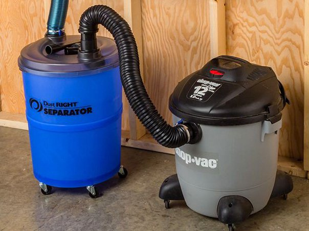 shop vacuum and dust separator