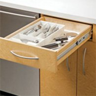 Example of a drawer mounted on side-mount slides