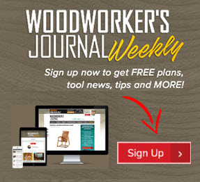 woodworkers journal weekly newsletter signup promo box