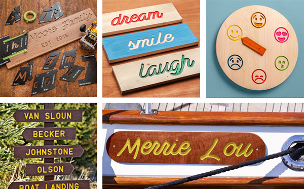 router template sign making examples