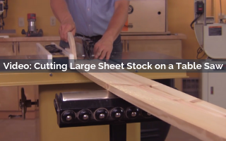 cutting large sheet stock on a table saw video screenshot