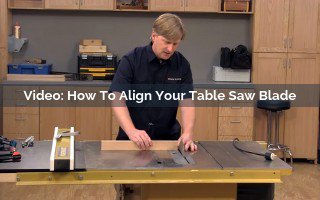 how to alight your table saw blade video screenshot