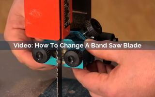 how to change a band saw blade video screenshot