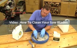 how to clean your saw blades video screenshot