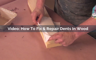 how to fix and repair dents in wood video screenshot